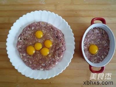 香菇肉饼蒸鹌鹑蛋的做法