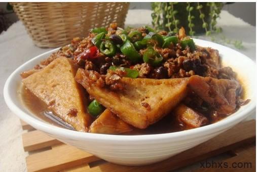 肉沫炒千层豆腐 配上大米饭简直了
