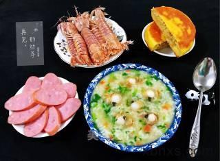扇贝茼蒿胡萝卜米粥最正宗的做法 家常扇贝茼蒿胡萝卜米粥的做法