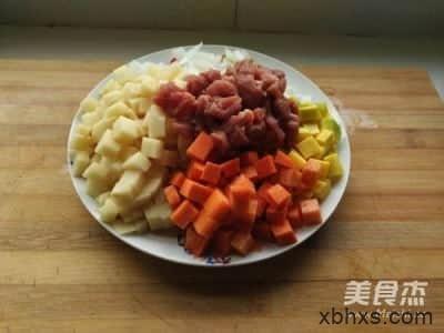低热量软嫩咖喱牛肉的做法