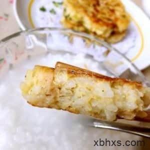 香煎米饭饼的做法