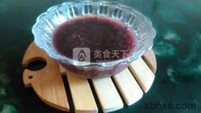 养生黑米粥的做法